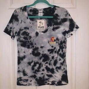 PINK USC Trojans V-neck T-shirt - NWT
